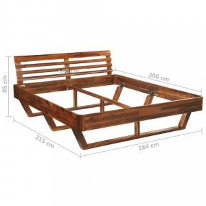 Posteľ akáciové drevo Dekorhome 180x200 cm