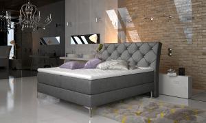 NABBI Amika 160 čalúnená manželská posteľ s úložným priestorom čierna (Dora 96)