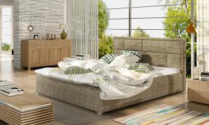 NABBI Liza UP 140 čalúnená manželská posteľ s roštom cappuccino