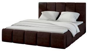 NABBI Evora 160 čalúnená manželská posteľ tmavohnedá (Jasmine 29)