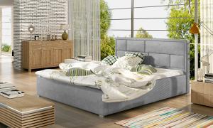NABBI Liza UP 160 čalúnená manželská posteľ s roštom svetlosivá (Paros 05)