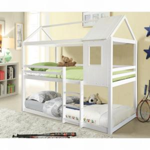 TEMPO KONDELA Atrisa poschodová posteľ s roštami biela