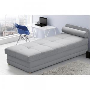 TEMPO KONDELA Riky jednolôžková posteľ (váľanda) s úložným priestorom svetlosivá #2 small