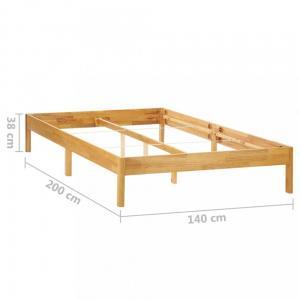 Posteľ masívne drevo Dekorhome 140x200 cm