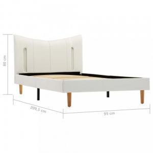 Posteľ s LED svetlom biela Dekorhome 120x200 cm #2 small