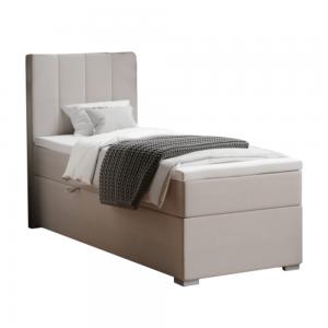 Boxspringová posteľ, jednolôžko, taupe, 80x200, ľavá, BRED