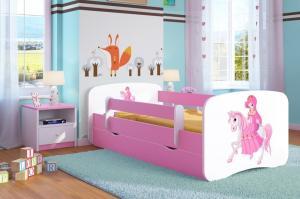 Detská posteľ Ourbaby Princess ružová 140x70 cm