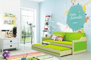 Detská posteľ Ourbaby David zelená 190x80 cm