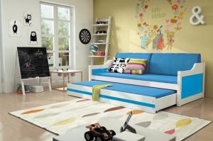 Detská posteľ Ourbaby David biela 200x90 cm