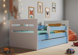 Detská posteľ Ourbaby Tomi modrá 160x80 cm