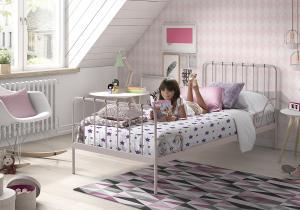Detská posteľ VIPACK FURNITURE Alice ružová 200x90 cm