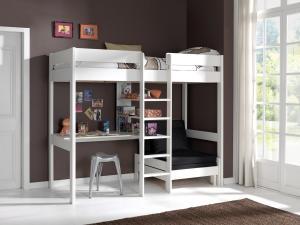 Detská posteľ VIPACK FURNITURE Pino biela 200x90 cm