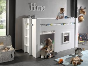 Detská posteľ VIPACK FURNITURE Noah biela 200x90 cm
