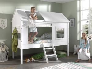 Detská posteľ VIPACK FURNITURE Charlotte biela 200x90 cm