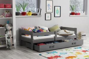 Detská posteľ Ourbaby Hugo sivá 160x80 cm