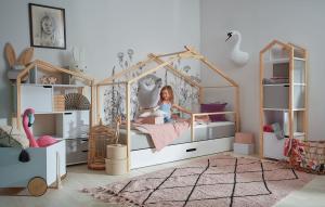 Detská posteľ Bellamy Teepee prírodná biela 200x90 cm