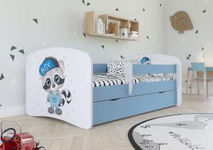 Detská posteľ Ourbaby Racoon Blue 140x70 cm