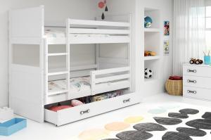 BMS Detská poschodová posteľ RICO / BIELA 160x80 Farba: Biela