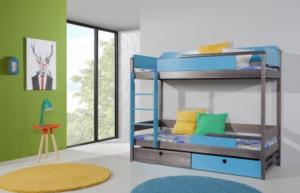 ArtBed Detská drevená poschodová posteľ NATU II Prevedenie: Borovica prírodná