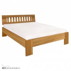 Drewmax Jednolôžková posteľ - masív LK293 | 120 cm dub Farba: Dub prírodný