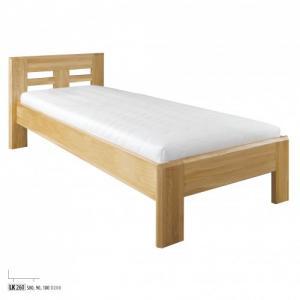 Drewmax Jednolôžková posteľ - masív LK260   80 cm dub Farba: Dub prírodný