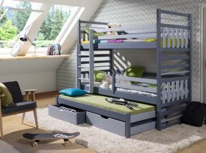ArtBed Detská poschodová posteľ Hipolit Prevedenie: Borovica prírodná