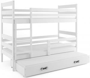 BMS Detská poschodová posteľ s prístelkou ERYK 3 | biela Farba: Biela / biela, Rozmer.: 160 x 80 cm #1 small