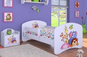 Happy Babies Detská posteľ HAPPY/ 05 Safari 160 x 80 cm Farba: Biela / biela, Prevedenie: L03 / 80 x 160 cm / bez úložného priestoru, Obrázok: Safari