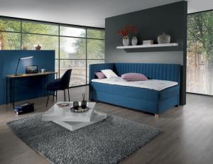 New design Čalúnená posteľ NOVO s čelami, Ľavá varianta Rozmer.: 80 x 200 cm