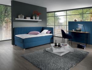 New design Čalúnená posteľ NOVO s čelami, Pravá varianta Rozmer.: 80 x 200 cm