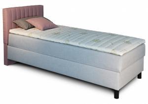 New design Čalúnená posteľ NOVO s krátkym čelom, Ľavá varianta Rozmer.: 80 x 200 cm