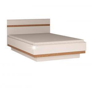 TEMPO KONDELA Lynatet 92 160 manželská posteľ biela / dub sonoma truflový