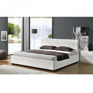 Manželská posteľ s úložným priestorom DORLEN NEW biela Tempo Kondela 163 x 200 cm